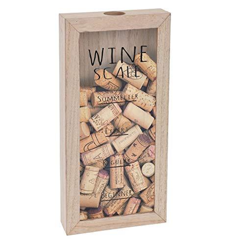 Korkensammler Weinzubehör mit Sichtfenster 30x15x14,5cm Vintage-Stil
