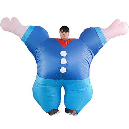 thematys Traje de Marinero Inflable Popeye - Divertido Disfraz de Aire para Adultos 165cm-185cm Carnaval, Despedida de Soltero o Halloween