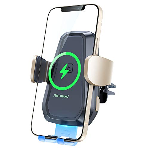 TORRAS Wireless Car Charger Mount [Auto Clamping], Compatible with iPhone 12 Pro/12/12 Mini/11 Series/Samsung Galaxy Note20/S20, 10W/7.5W QI Fast Charging for Air Vent