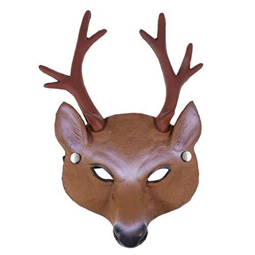 Amosfun Halloween lustige Elch Maske Vollmaske Elch Kostüm Maske Kopfbedeckung Maske für Halloween Cosplay Kostüm