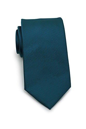 Puccini Krawatte mit Struktur, Einfarbig, Mikrofaser, 8 cm, Handarbeit, ideal für Hochzeit, Alltag und Büro (Petrol)