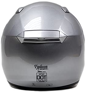 Snell M2015 Approved Full Face Motorcycle Helmet (XXL - Silver)