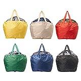 【AOTOBAG】洗える マイカゴ 2個セット 同色 お買い物 折り畳み バッグ 軽量 大容量 30L 保冷 保温 コンパクトで使いやすい Black