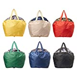 【AOTOBAG】洗える マイカゴ お買い物 折り畳み バッグ 軽量 大容量 30L 保冷 保温 コンパクトで使いやすい (2点セット, Black×Beige)