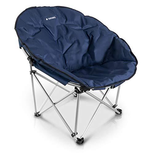 Navaris Moon Chair Faltsessel rund - Camping Stuhl Outdoor Klappstuhl - Campingstuhl mit Tasche - Angelstuhl Falt Sessel - Klappsessel div. Farben