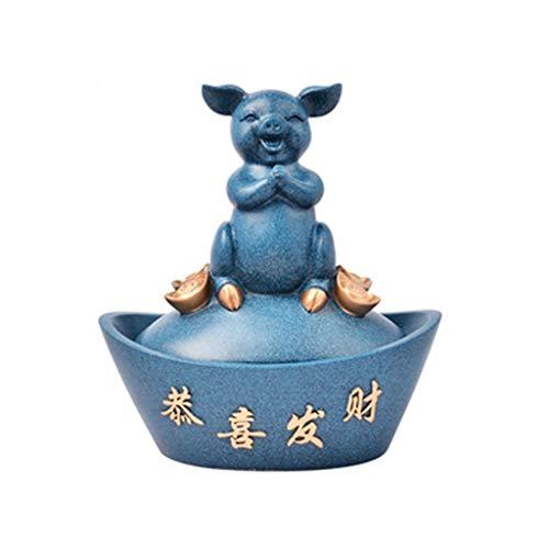 YNLRY Décoration de table basse Boîte de rangement à clés pour salon TV (couleur : bleu, taille : 20,5 x 13,5 x 23 cm)
