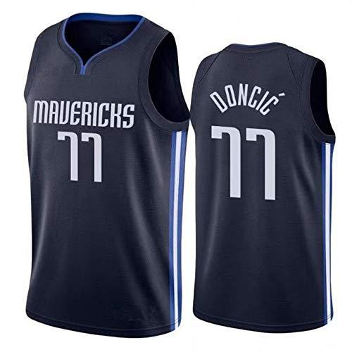 HYQ NBA Jersey, New Season Llanero Equipo, 77 Camiseta Uniformes de Baloncesto Camisa Bordada edición de la Ciudad prensado en Caliente Jersey,Doncic,XL/52