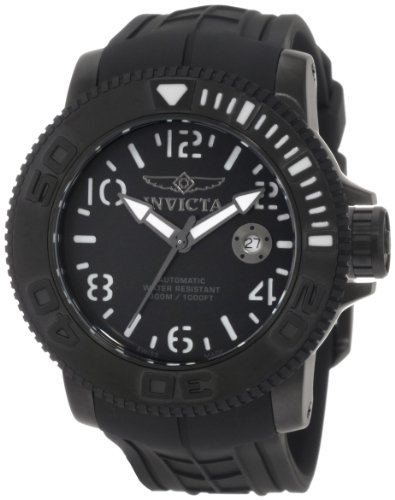 Invicta Men's 1073 Invicta II Automatic Black Dial Black Rubber Watch