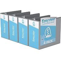 Easyview プレミアム アングルDリング カスタマイズ可能 ビューバインダー 6個パック (5インチ グレー)