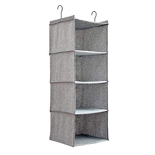 ZUOLUO hänge Organizer hängeorganizer Wardrobe Organiser Wardrobe Storage Shoe Storage Hanging Over Door Shoe Storage Wall Storage Shoe Storage Solutions Gray,4