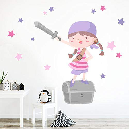 Súper niña pirata - Lila - Vinilos infantiles - T0- Basico