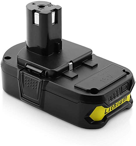 Yabelle [Upgraded] 2500mAh Replacement Ryobi 18V Lithium Battery for Ryobi 18-Volt ONE+ Battery P104 P105 P102 P103 P107 Cordless Tools Battery