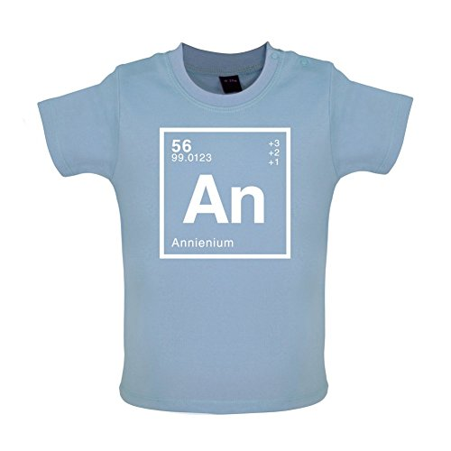 ANNIE - Periodic Element - Baby / Toddler T-Shirt - Dusty Blue - 12-18 Months
