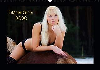 Titanen Girls 2020 - erotische Frauen und starke Pferde (Wandkalender 2020 DIN A2 quer): Sexy Girls und starke Pferde (Monatskalender, 14 Seiten )