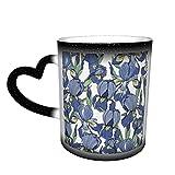 Modello senza soluzione di continuità con fiori iris tazze di caffè tazza di ceramica regali personalizzati per gli amanti della famiglia amici