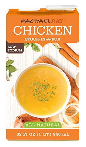 NEW Rachael Ray Low Sodium Chicken Stock [Stock in a box] PACK OF 6! All Natural Low Sodium Chicken Stock 6-pack