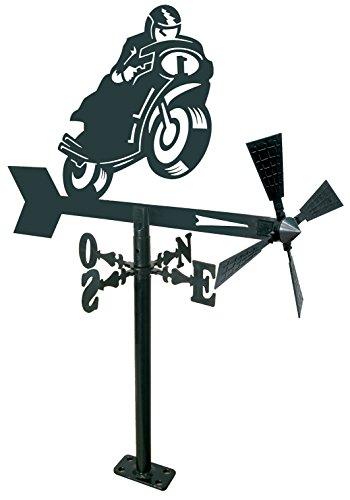 Arthifor Windlicht für Garten, Motorrad, Schwarz matt