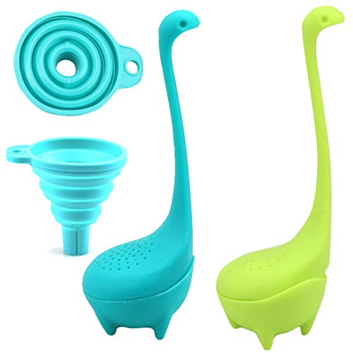 Buy Discount DinoTea Infuser Set of 2 - Dinosaur Loose Leaf Tea Infusers with Long Handle Neck & Cut...