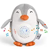 Machine à Bruit Blanc Pingouin Momcozy, Projecteur Veilleuse Rechargeable, Aider Bébé à s'Endormir, Jouet Musical avec 15 Sons Apaisants, Veilleuse pour Bébé avec Détecteur de Pleurs, etc