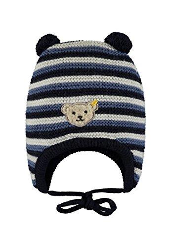 Steiff Baby-Jungen Strick Mütze, Blau (y/d Stripe|Multicolored 0001), 45