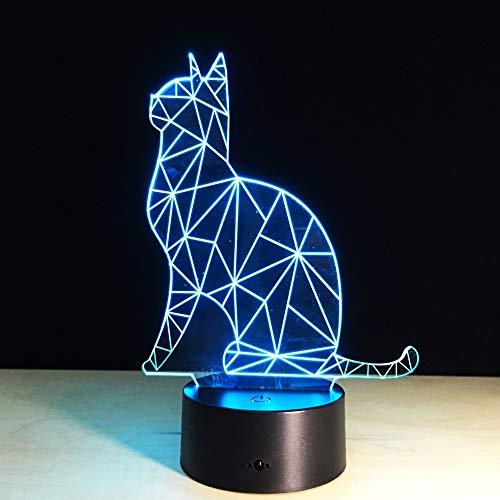 Schöne Katze Tier Spielzeug Nachtlicht 3D LED Tischlampe Kinder Geburtstagsgeschenk Nachtzimmer Dekoration