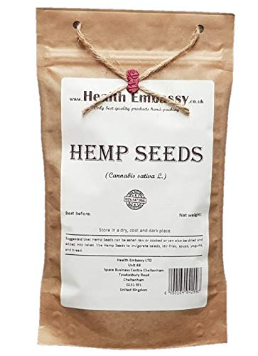 Health Embassy Chanvre Cultivé Graines (Cannabis sativa L.) / Hemp Seeds, 100g