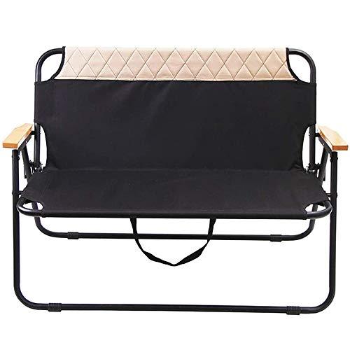 SMFYY Paare Freizeit-Stuhl Im Freien Rücken Strand-Stuhl, High-Grade Stahlrohr Klappstuhl Doppelaußenstahlrohr Barbecue Klappstuhl