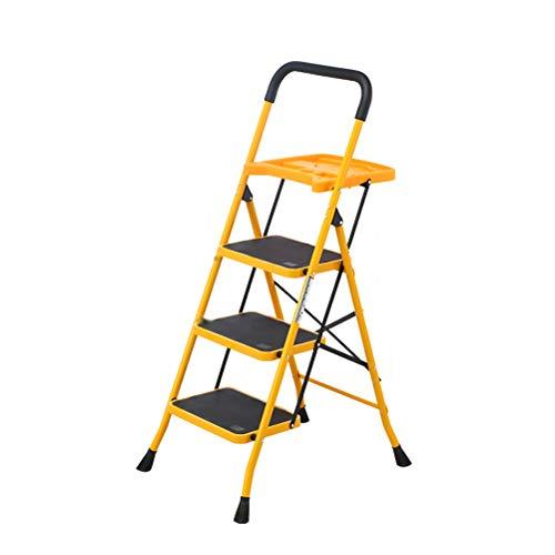 FDR Huishoudelijke Ladder Met Werkbank, Opvouwbare Multifunctionele 3-staps Ladder 4.14
