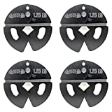 Micro Gainz 1.25LB Dumbbell Fractional Weight Plates 4 Pack- Designed for Dumbbell Training and Micro Loading, Made in USA (5.00)