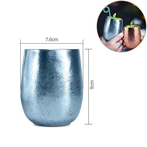 Titanium Bierbeker Draagbaar Dubbelwandig Bierglas Lichtgewicht Wijnglas Herbruikbare Drinkbenodigdheden voor Verjaardagsfeestje, Camping, Reizen, Buiten | Duurzaam & Onbreekbaar | BPA gratis, 220Ml