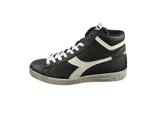 Diadora Game L High Waxed Skate Shoe,Black/Cloud Dancer,10.5 M US