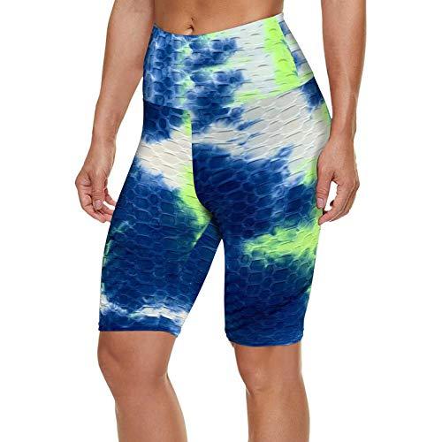 SKAW Mono Pegado Mujer Casual Pantalones Pantalon Corto NBA Lavar a máquina Calcetines de Yoga para Mujer Antideslizantes Botón de presión Mono Playa Mujer Pantalón de Deporte Verde S