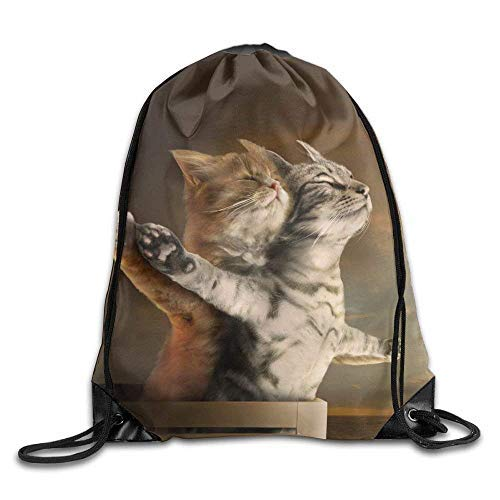 Etryrt Mochila de Cuerda,Bolsas de Gimnasia, Funny Cats Titanic Drawstring Backpack Rucksack Shoulder Bags Training Gym Sack For Man and Women