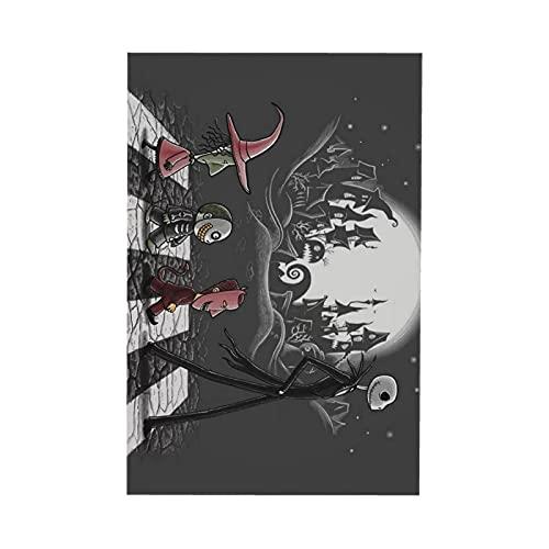 Mantel rectangular con diseño de pesadilla antes de Navidad, para exteriores, patio, jardín, fiesta, cocina, barbacoa, 152,4 x 228,6 cm (6-8 asientos)