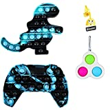 Push Pop Bubble Fidget Sensory Pack, Camo Cool Video Game Dinosaur Controller Poop Cute it,Cheap Mini Simple Poppop Dimple Figetget Set,Anxiety Fun US Popper Keychain for Boys Kids Adults