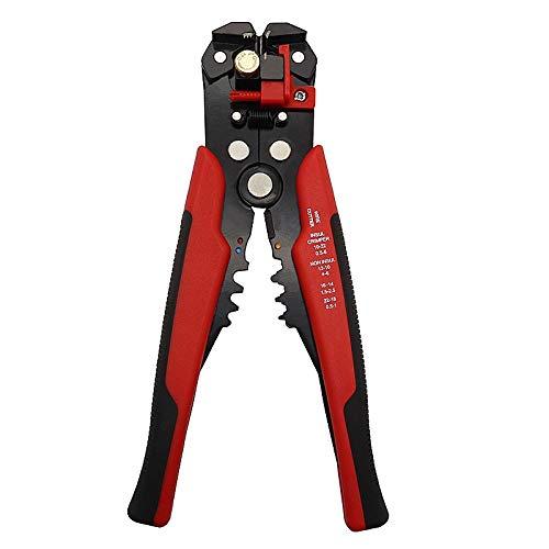 U/D Pimbuster Abisolierzange HS-D1-Crimp-Kabelschneider automatische Abisolierzange Multifunktions ABISOLIERWERKZEUGE quetschverbindenzangen Terminal-Werkzeug (Color : D1 Red)