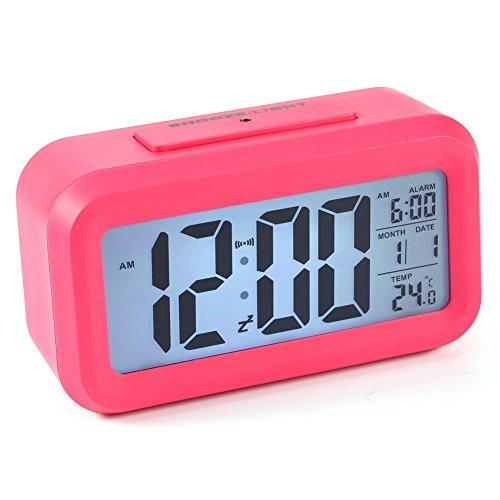 Reloj LED Digital Alarma despertador dormido activada Sensor de luz...