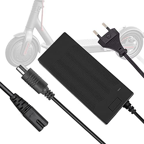 Cargador Eléctrico Scooter, 42V 2A Cargador de Batería Patinete Reemplazo de Adaptador para Xiaomi Mijia Ninebot M365 ES1 / ES2 / 2S3 / ES4