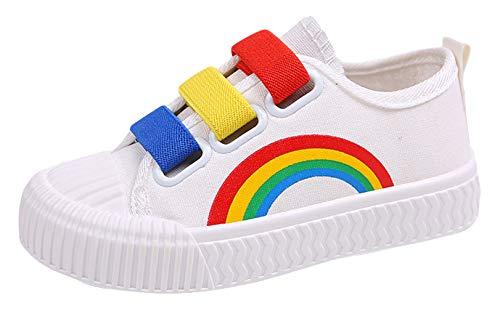 GEMVIE Arcoiris Zapatos Deportivos para Adolescentes Niñas sin Cordones Zapatillas Casual con Tacón Bajo