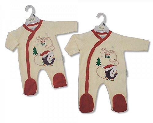 Bébé Tenue de Noël tout en un avec broderie et Applique – 3/6 mois