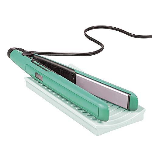 mDesign Matte aus Silikon für Lockenstab und Glätteisen – praktische Auflage für den Waschtisch – schützende Ablage für erhitzte Haarstyling-Geräte – mintgrün
