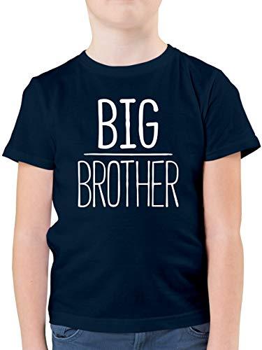 Geschwisterliebe Kind - Big Brother - 128 (7/8 Jahre) - Dunkelblau - Shirt Big Brother Kinder - F130K - Kinder Tshirts und T-Shirt für Jungen