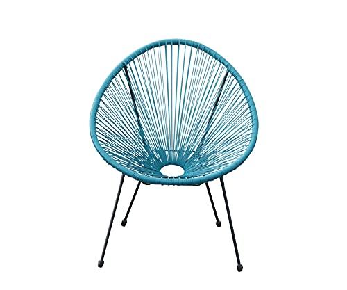 animal-design Lounge Sessel Retro Gartenstuhl Relaxsessel Indoor/Outdoor (türkis)