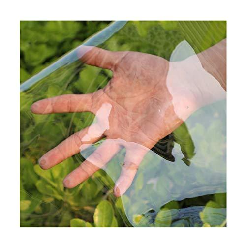 Tarea Pesada PVC Lona Transparentea Impermeable, 0,3 MM A Prueba De Polvo A Prueba De Lluvia, Jardinería Marquesina De Aislamiento Paño De Película, Personalizable ( Color : Clear , Size : 3x3m )