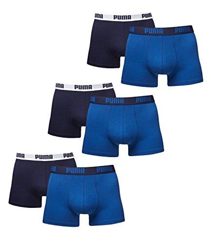 Puma Boxershorts Herren. 6er Pack Retroshorts neue Kollektion 2015/2016, Blau, 6er Pack - XL/52