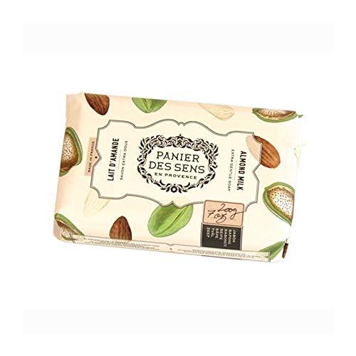 Panier des Sens extra milde Sheabutter Seife - Mandelmilch - für Gesicht und Körper mit 95% natürlichen Inhaltsstoffen 200 g