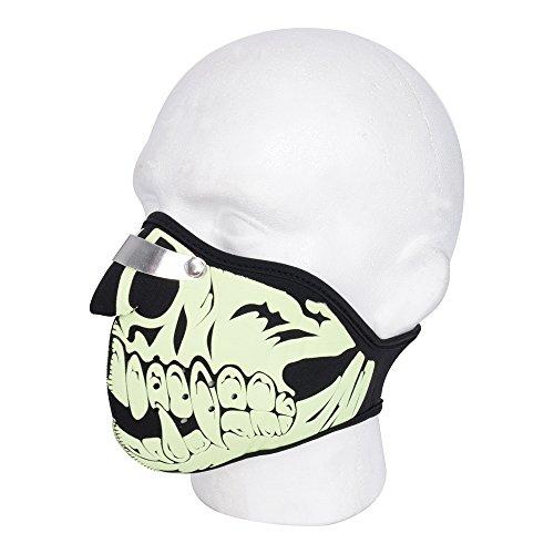 Oxford Motorfiets Masker Glow Skull