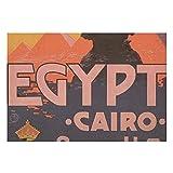 Tischsets aus Leinen, 4 Stück, Kairo Ägypten, Vintage-Reiseposter, rutschfeste Tischsets für Esszimmer, Küche, Restaurant, Tisch, Bauernhaus, Hochzeit, Außen- & Innenbereich