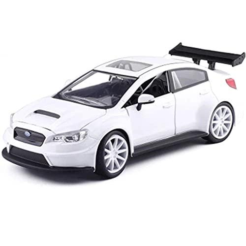 min min Modelo de automóvil, 1:24 Escala/Compatible con Subaru/Aleación Modelo de automóvil Modelo Estático Coleccionar Metal Car Pull Back Modelo Diecast Car Modelo Modelo (Color: Blanco)