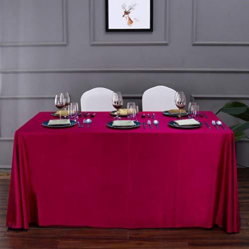 Yinaa Manteles Estampados Antimanchas Simple y Grueso Colores Decoracion Hogar Rojo 150 × 300cm